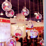 10pcs 5 Ball Christmas Baubles Clear Fillable Xmas Tree Decoration Ornaments GL
