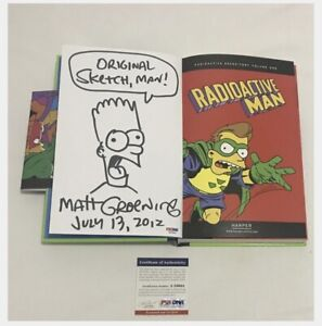 Rare Matt Groening signed comic art and book limited edition comic-con Simpsons