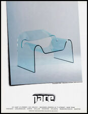 Fiam Ghost Chair 1988 print ad for Pace Gallery - modern, plastic, acrylic
