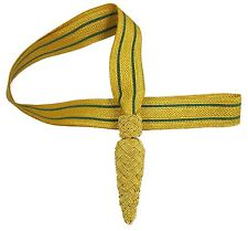 Sword knots Gold with 2 Green Strips Line R1790