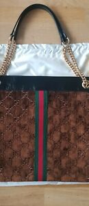 Gucci gg supreme Rajah leather Tote hand bag shopper rrp £2210  Brand New