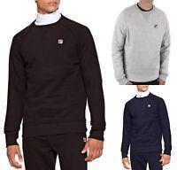 FILA Mens Cotton Crew Neck Print Logo Sweatshirt Black Blue Grey Sweat Top
