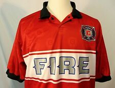 Chicago Fire Soccer Vintage Mens Shirt Size XL Golf Polo Polyester