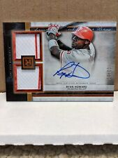 2020 Topps Museum Collection Signature Swatches Dual Relic Auto Ryan Howard...