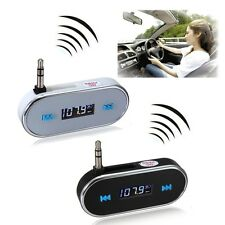 Wireless 3.5mm Car LCD Display FM Transmitter For iPhone 6 6Plus 5S 5C Android