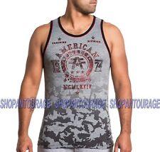 95775240 American Fighter Dalton FM4282 New Men`s Grey Sport Tank Top By Affliction