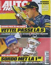 AUTO HEBDO n°1924 du 28 AOÛT 2013 GP BELGIQUE WRC ALLEMAGNE 90 ans des 24H