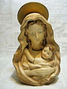 "ARTMARK Madonna & Child Mary & Jesus Planter 7"" Head Vase Japan Vtg"