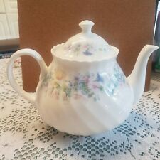 More details for wedgewood bone china angela teapot 1989 flowers