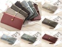 New Fashion Lady Long Handbag Card Holder Women Leather Wallet Case Clutch Purse