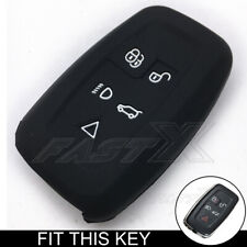 Black Silicone Skin Cover Case Fob fit for LAND ROVER LR4 Range Rover Smart Key