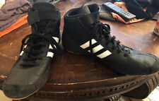 Mens Adidas 3 Stripe Wrestling Shoes Size 11.5 Black White
