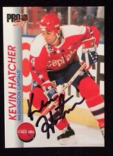 KEVIN HATCHER 1992 PROSET Autographed Signed HOCKEY Card CAPITALS 204