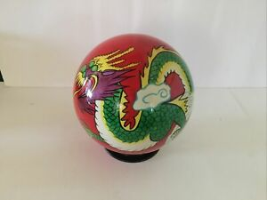 Vintage Undrilled Ebonite Optyx Dragon Bowling Ball 10.5 pounds