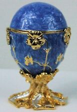Russian Faberge Blue Replica with Blue Marble-like design E06-28-11