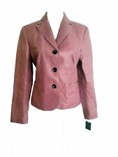 **NEW** ANN TAYLOR Mauve/Dusty Rose Leather Blazer - Size 6