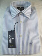 STAFFORD EASY CARE BROADCLOTH DRESS SHIRT Reg. Fit 14 1/2 32-33 Dbl Blue Stripe