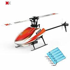 XK K110 Blast 6CH Brushless 3D6G System RC Helicopter BNF with 5PCS 520mAh