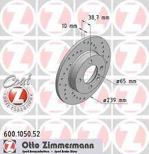 Disque de frein avant ZIMMERMANN PERCE 600.1050.52 VW SANTANA 32B 1.3 60ch