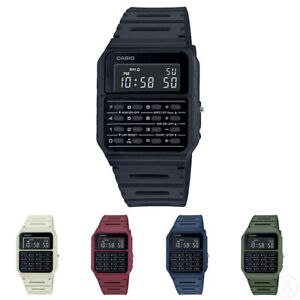 Casio Vintage Data Bank Retro Calculator Classic Mannish Colour Watch CA-53WF