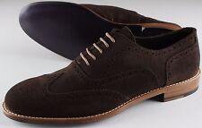 NWB ISAIA WING TIP shoes francesina suede brown blake eu 43,5 us 10.5 uk 9.5