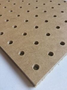PACK 3   6mm Pegboard wooden 600MM X 600MM,6/7mm hole with 25mm Hole centres