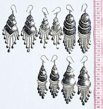 Lot 5 Pairs Peruvian Ethnic Tribal Earrings Handcrafted Metal Jewelry Sale Peru