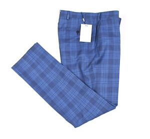 NEW Suit Supply Brescia Men Blue Slim Fit Trouser Dress Pants Size 48