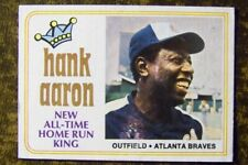 1974 Topps #1Hank Aaron All Time Home Run King NR-MINT!!!