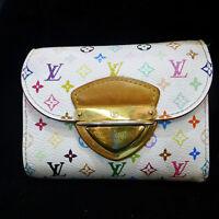 LOUIS VUITTON Monogram Joey Multicolor Bifold Wallet by Takashi Murakami