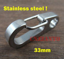 "1.3"" Stainless steel key chain Quick Link Carabiner Spring Snap Hook clip"