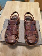 Born Cabot III Sandals, Brown Leather, Mens 9 M New in Box  Fisherman Free Ship