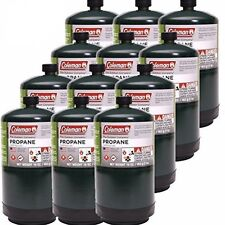 COLEMAN 12 Pack Propane Fuel NEW FULL Cylinder 16 oz Lot 12 Camp Gas Prop Tank