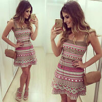 2018 Womens Summer Casual Off-Shoulder Party Evening Cocktail Swing Short Dress