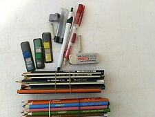 40 Colored Pencils Crayola & Asst. Art Craft & Drafting Supplies-Erasers-Lead