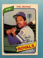 1980 Topps Baseball Card #185 Hal McRae Kansas City Royals