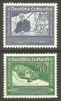 DR Nazi 3rd Reich Rare WW2 Stamp Air Mail Graff Zeppelin Airship Dirigible Blimp
