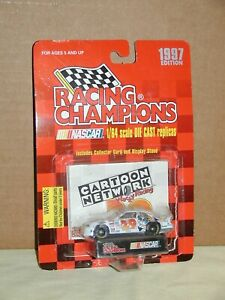 Nascar Cartoon Network #29 Race Car w/Stand 1:64 Racing Champions 1997 White