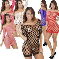 Mesh Big Fishnet Dress Body Stockings Body Stocking Bodysuit Nightwear Lingerie