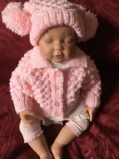 Aran Baby Jacket and Hat Pattern. VR40