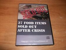 37 Food Items Sold Out After Crisis CD ROM 2012 Survival Products NEW