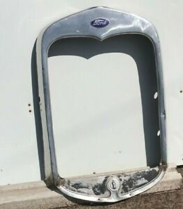 1930 1931 FORD MODEL A STAINLESS GRILLE SHELL ORIGINAL OEM RADIATOR GOOD USED