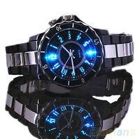 Ohsen Steel LED light Watch Men boy Quartz Watch Sport Dial Wrist Watch Cheaply