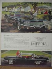 1960 Chrysler Imperial Custom Four-Door Southampton Car Vintage Print Ad 10320