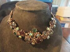 Fabulous Vintage Rare Quality Miracle Rhinestone Statement Necklace, Signed