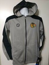 NHL Youth Boys L 14/16 Chicago Blackhawks Full Zip Logo Delta Track Jacket NEW