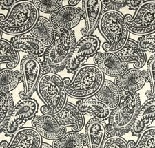 Outdoor/ Indoor~Upholstery~VICTORIAN AGED PAISLEY~Charcoal~Fabric~per 1/4 yd