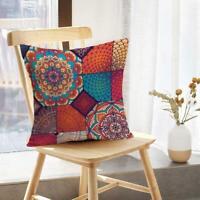 Geometric Cotton Linen Pillow Case Sofa Throw Cushion Home Cover D4Z8 Decor O1B6