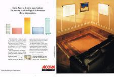 PUBLICITE ADVERTISING  2005   ACOVA   radiateurs  ( 2 pages)