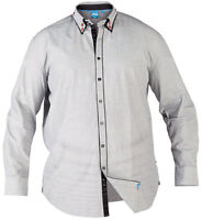 Mens Big Size D555 Raul Grey Long Sleeve Casual Shirts King Sizes 1XL to 6XL